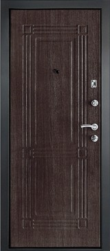 Дверь Дверной континент Лайн Графит  Венге