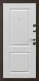 Дверь Дверной континент Гранд Графит  Матовый белый