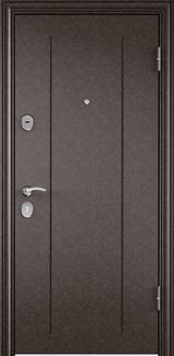 Дверь Torex Delta-M 10 Античная медь RGSO Вельвет белый DPC-2W