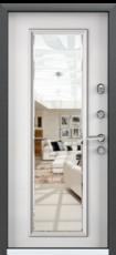 Дверь Torex Super Omega-10 Черный шелк RP2 Белый RS10 с зеркалом