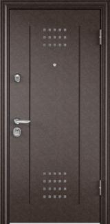 Дверь Torex Super Omega-10 Античная медь RP1 Белый RS10 с зеркалом