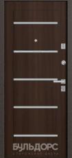 Дверь Бульдорс 13 Букле шоколад  Орех темный М-3