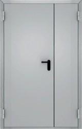 Дверь Меги ПДС-2 ЕС-60 Противопожарная двухстворчатая RAL 7038  RAL 7038
