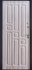 Дверь Алмаз Топаз 11 Черный шелк  Холст серый №6