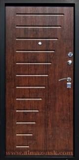 Дверь Алмаз H Черный шелк / Синий металлик H-5 Тиковое дерево №14