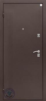 Дверь Алмаз Лазурит 2 Античная медь  Беленый дуб №69