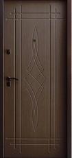 Дверь Алмаз Лазурит 2 Античная медь  Тиковое дерево №69