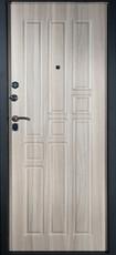 Дверь Алмаз Топаз 2 Черный шелк  Холст серый №6