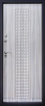 Дверь Алмаз Агат Черный шелк №11 Холст серый №25