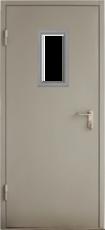 Дверь Противопожарная ГОСТ EI60 со стеклом RAL 7035 880*2070мм