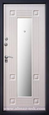 Дверь Алмаз Алмаз 1 Бронзовый шелк Руст 1 Беленый дуб №8 Z1 с зеркалом