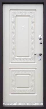 Дверь Алмаз Алмаз 2 Венге №79 Белый шелк №79