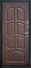 Дверь Город мастеров Обь Черный металлик Статус Венге ребро №10