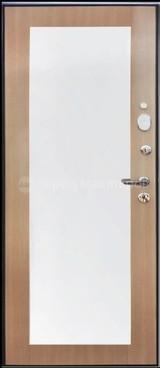 Дверь Город мастеров Селенга (с зеркалом) Черный металлик Волна Венге светлый №106