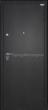 Дверь Город мастеров Печора+ Черный сатин  Орех рифленый №97