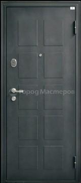 Дверь Город мастеров Обь модерн Черный металлик  Светлый кипарис