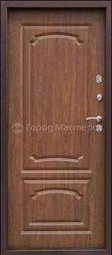 Дверь Город мастеров МеДВЕРЬ Античная медь  Орех рифленый №4