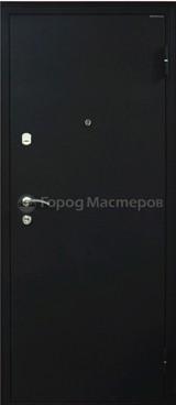 Дверь Город мастеров Застава Черный сатин  Дуб седой тонкий №96