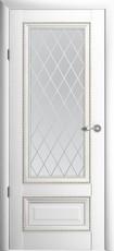 Дверь Albero Галерея Версаль 1 со стеклом Ромб Белый Винил