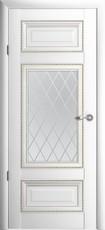 Дверь Albero Галерея Версаль 2 со стеклом Ромб Белый Винил