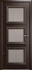 Дверь Albero Галерея Версаль 3 со стеклом Орех Винил
