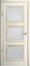Дверь Albero Галерея Версаль 3 со стеклом Ромб Ваниль Винил
