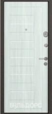 Дверь Бульдорс 14 Букле шоколад R-1 Дуб крем М-2