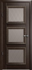 Дверь Albero Галерея Версаль 3 со стеклом Ромб Орех Винил