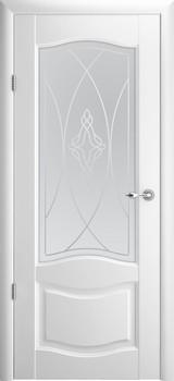 Дверь Albero Галерея Лувр 1 со стеклом Белый Винил