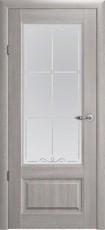 Дверь Albero Галерея Эрмитаж 1 со стеклом Пепельный дуб Винил