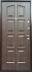 Дверь Бульдорс 24 Античная медь  Дуб шоколад F-3