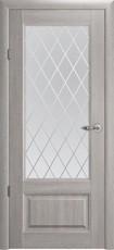 Дверь Albero Галерея Эрмитаж 1 со стеклом Ромб Пепельный дуб Винил