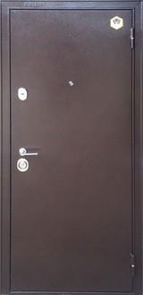 Дверь Бульдорс 24 Античная медь  Дуб беленый царга MS-4