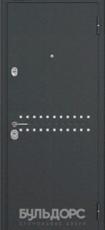 Дверь Бульдорс 24 Черный шелк R-4 Венге царга MS-8