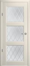 Дверь Albero Галерея Эрмитаж 3 со стеклом Ромб Ваниль Винил