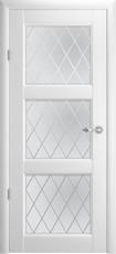 Дверь Albero Галерея Эрмитаж 3 со стеклом Ромб Белый Винил