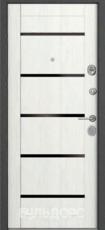 Дверь Бульдорс 24 Черный шелк K-1 Дуб беленый  MS-8