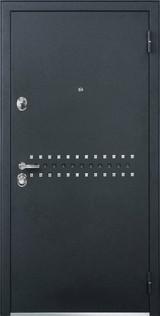 Дверь Бульдорс 43 Черный шелк R-10 Мокко горизонт