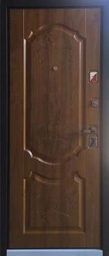 Дверь Бульдорс 44 Черный шелк  Дуб медовый N-1