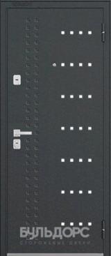 Дверь Бульдорс 44 Черный шелк R-14 Ларче темный N-9