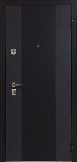 Дверь Бульдорс 44Т Черный шелк K-2 Ларче бьянко Т-5
