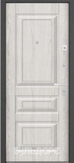 Дверь Бульдорс 45 Черное дерево N-7 Дуб шале серебро N-7