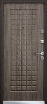 Дверь Mastino Terra Черный шелк D-3 Каштан темный MS-6