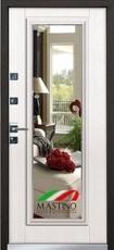 Дверь Mastino Cielo (Parko) Черный шелк D-4 Шамбори светлый MS-7 Зеркало