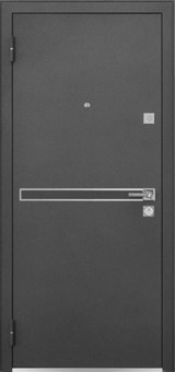 Дверь Mastino Cielo (Parko) Черный шелк D-4 Каштан темный MS-7 Зеркало