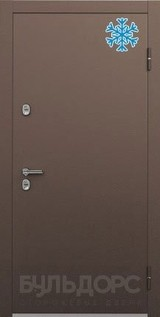 Дверь Бульдорс Termo-1 Букле шоколад  Орех грецкий TB-2