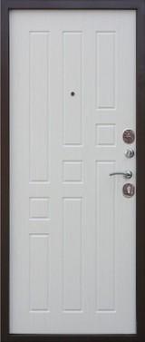 Дверь Цитадель Гарда 8мм Античная медь  Белый ясень