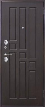 Дверь Цитадель Гарда 8мм внутреннее открывание Античная медь  Венге