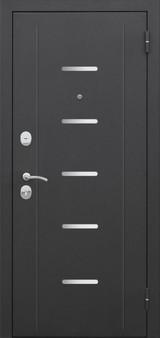 Дверь Цитадель 7,5см Гарда муар Черный муар  Лиственница мокко