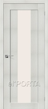 Дверь el'Porta Порта X 25 alu Bianco Veralinga экошпон
